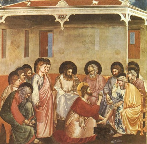 HOLY WEEK ~ Jesus Washes the Disciples' Feet. John 13.1-15 ESV. Christ Reasoning with Peter, by Giotto di Bondone (Cappella Scrovegni a Padova).jpg