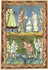 225px-St_Boniface_-_Baptising-Martyrdom_-_Sacramentary_of_Fulda_-_11Century.jpg
